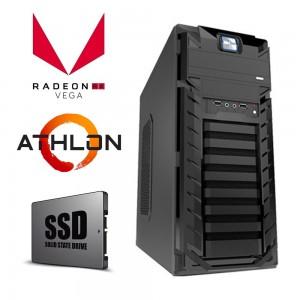 AMD 2-Core Athlon 200GE 3.2GHz Desktop Computer 4GB 120GB Radeon Vega3