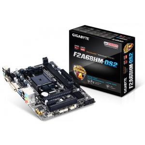 Gigabyte GA-F2A68HM-DS2 FM2+ mATX Motherboard A68 2xDDR3 2xPCIe PCI VGA DVI RAID GbE LAN 4xSATA3 2xUSB3 8xUSB2 (LS)