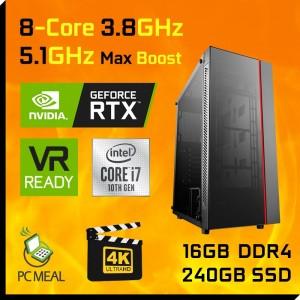 Intel i7 10700KF RTX3060 Ti 16GB 240GB SSD Gaming Computer Desktop PC