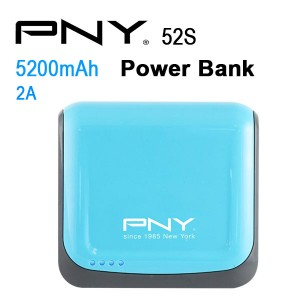 PNY POWER BANK 52S BLUE 5200MAH 2 USB OUTPUT