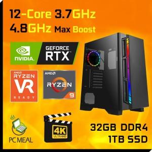 AMD Ryzen 9 5900X 12-Core RTX 3090 24GB 1TB SSD 32GB Gaming Computer Desktop PC