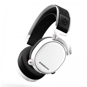 SteelSeries Arctis Pro Wireless WFH White Gaming Headset for PC and PS4 61474