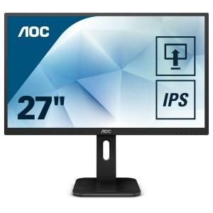 "AOC Q27P1 27"" LED LCD Gaming Computer Monitor QHD Speaker IPS HDMI DP DVI VGA"