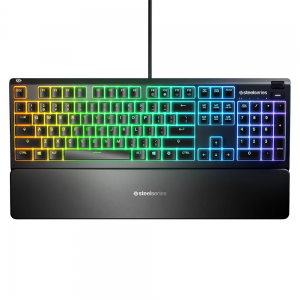 SteelSeries Apex 3 Whisper Quiet Switches RGB Gaming Keyboard 64795 Wrist Rest