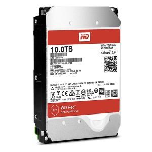 """Western Digital WD Red 10TB 3.5"""" SATA Internal NAS Hard Drive HDD 5400RPM 256MB WD100EFAX"""
