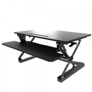 Atdec Height Adjustable Monitor Mounting Black Desk Workstation A-STS-B SIT-TO-STAND