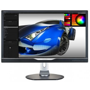 "Philips Brilliance P Line 28"" 4K Ultra HD TN LED Monitor 3840x2160 1ms HDMI DP DVI VGA Built-in Speaker 288P6LJEB"