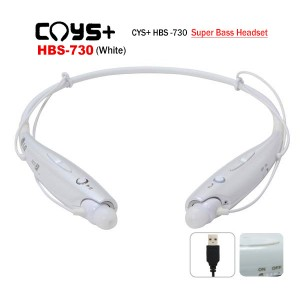 CYS+ CYSHBS-730 Wireless Stereo Headset bluetooth with 3 Size Ear Rubbersth Stereo Headset