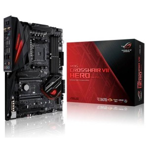 Asus AMD ROG X470 ATX Gaming Motherboard with M.2 RGB DDR4 Wifi dual M2 WiFi ROG CROSSHAIR VII HERO (WI-FI)