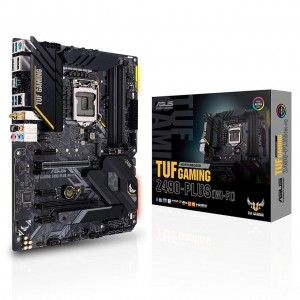 ASUS TUF GAMING Z490-PLUS (WI-FI) Intel Z490 10th Gen LGA1200 ATX MB DDR4 1xDP 1xHDMI 6xUSB3.2 PCIE3.0x16 6xSATA 2xM.2 WIFI6 Thunderbolt