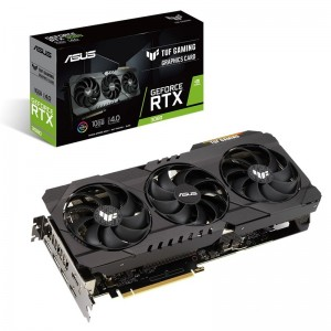 ASUS nVidia Geforce TUF-RTX3080-10G-GAMING RTX 3080 10G Ampere SM 2nd Gen RT Cores 3rd Gen Tensor Cores Military Grade Capacitors