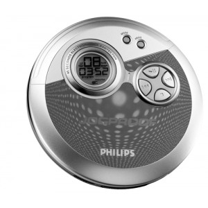 Philips AX3300/10 CD player Portable Blue Silver