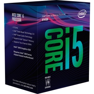 Intel Core i5 8600 Processor 9MB 3.1 GHz LGA 1151 6 Core 6 Thread Desktop CPU BX80684I58600