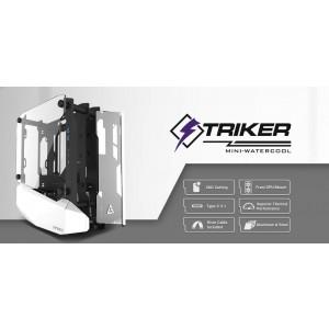 Antec STRIKER Open Frame Mini-ITX Aluminium and Steel Case, PCI-E Riser Cable included. USB 3.1 Type-C, Aluminium Steel, Superior Thermal Performance