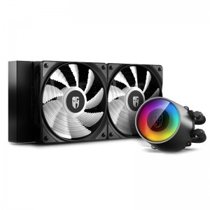 Deepcool GamerStorm Castle 240 RGB V2 CPU Liquid Cooler, Anti-Leak, 2 Fans, Intel LGA2066/2011/1200/1151/1150 AMD TR4 AM4 AM3 3+ AM2 2+ FM2 2+ FM1