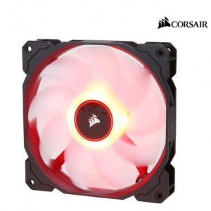 Corsair Air Flow 140mm Fan Low Noise Edition / Red LED 3 PIN - Hydraulic Bearing, 1.43mm H2O. Superior cooling performance and LED illumination