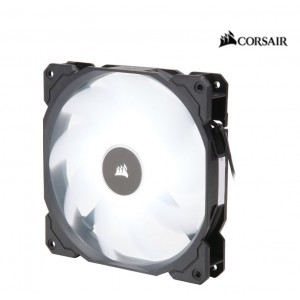 Corsair Air Flow 140mm Fan Low Noise Edition / White LED 3 PIN - Hydraulic Bearing, 1.43mm H2O. Superior cooling performance and LED illumination