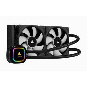 Corsair Hydro Series H100i 240mm RGB PRO XT Liquid CPU Cooler. 5 Years Warranty. Intel 1200, 115x, 2011/2066, AMD AM3, AM2, AM4, sTRX4, sTR4