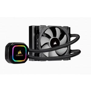 Corsair H60i RGB PRO XT 120mm Liquid CPU Cooler. RGB Pump Head, Efficient cool plate and pump. 1x ML 120 PWM Fan, 1200, 115x, 1366, 2011/2066, AM4