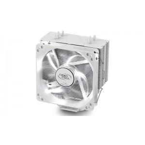 Deepcool Gammaxx 400 White CPU Cooler 4 Heatpipes, 120mm PWM LED Fan Intel LGA20XX/1366/115X/1200/775 AMD AM4 FM2 FM1 AM3+ AM3 AM2+ AM2 K8