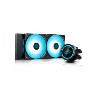 Deepcool GAMMAXX L240 V2 RGB LED Liquid Cooler PWM Control, Super Silent Intel 165W LGA20XX/1366/1200/115X AMD 250W AM4 AM3+ AM3 AM2+ AM2 FM2+ FM2 FM1