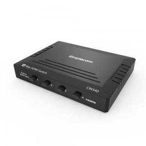 Simplecom CM340 Mechanical 4 Way Manual Push Button HDMI Switch Box 4 Port 4K UHD HDCP CM340