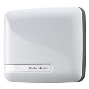 Cooler Master 6600mah White Powerbank Dual USB output Stylish Design Power Level Indicator