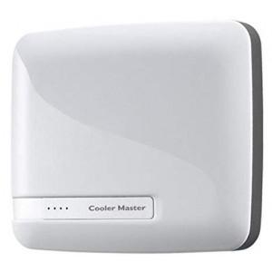 Cooler Master 6600mah White Powerbank Dual USB output Stylish Design Power Level Indicator
