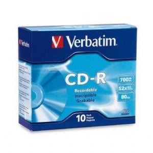 Verbatim CD-R 700MB 10Pk Slim Case 52x