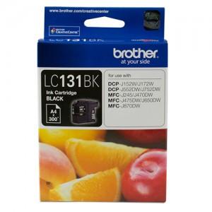 Brother LC-131BK Black Ink Cartridge - DCP-J152W/J172W/J552DW/J752DW/MFC-J245/J470DW/J475DW/J650DW/J870DW - up to 300 pages