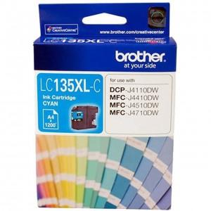 Brother LC-135XLC Cyan Ink Cartridge- MFC-J6520DW/J6720DW/J6920DW and DCP-J4110DW/MFC-J4410DW/J4510DW/J4710DW - up to 1200 pages
