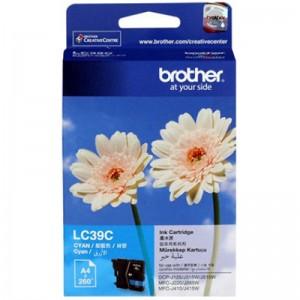 Brother LC-39C Cyan Ink Cartridge - DCP-J125/J315W/J515W MFC-J220/J265W/J410/J415W/J140W- up to 260 pages