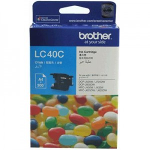 Brother LC-40C  Cyan Ink Cartridge- to suit DCP-J525W/J725DW/J925DW, MFC-J430W/J432W/J625DW/J825DW- up to 300 pages