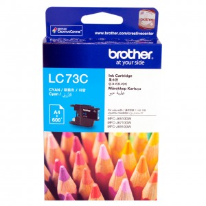 Brother LC-73C Cyan High Yield Ink- DCP-J525W/J725DW/J925DW, MFC-J6510DW/J6710DW/J6910DW/J5910DW/J430W/J432W/J625DW/J825DW - up to 600 p