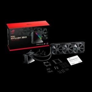 ASUS ROG Ryujin 360 All-In-One Liquid CPU Cooler, OLED, Aura Sync, Noctua iPPC 2K PWM 120mm Radiator Fan