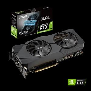 Asus nVidia GeForce RTX 2080 Dual OC 8GB GDDR6 Gaming Graphics Video Card HDMI DUAL-RTX2080-O8G