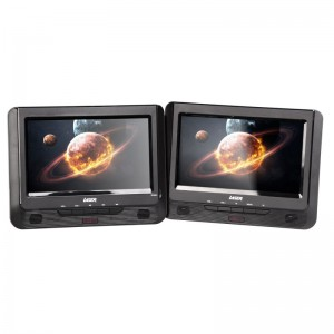 "LASER 9"" IN CAR DUAL SCREEN PORTABLE DVD PLAYER CD USB SD DVD-PT9-DUALB"