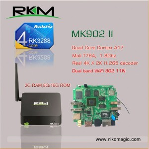 RKM MK902II 16G SMART TV BOX Quad Core RK3288 Android 4.4 2G 16G WIFI BT4.0