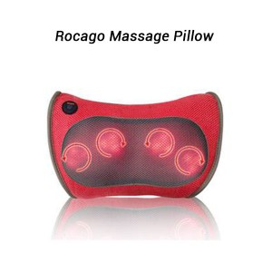 Rocago Portable Massage Pillow Bidirectional Kneading Massage Home Office