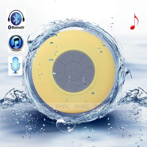 Mini Waterproof Wireless Bluetooth Speaker (Yellow)