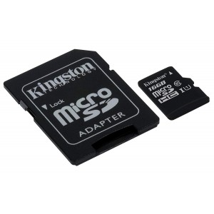 KINGSTON SDCS-16GB microSDHC Canvas Select 80R with SD adapter