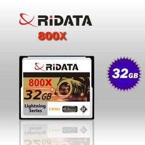 RiDATA 32GB 800X Lightning Series UDMA CF CompactFlash Card (RDCF32G-800X-LIG)