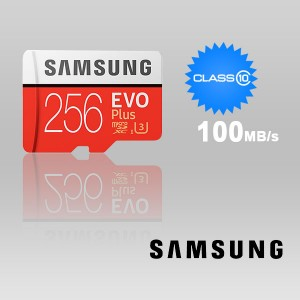 SAMSUNG 256GB UHS-I Plus EVO CLASS 10 U3 4K without SD ADAPTER 100R/90W MB-MC256G