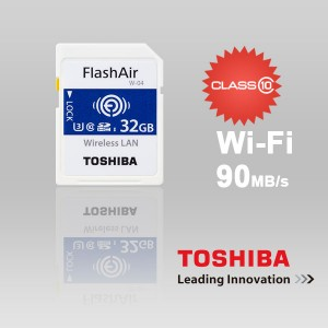 Toshiba 32GB THN-NW04W0320C6 FlashAir SDHC W-4 CL10 (New) 90R 70W