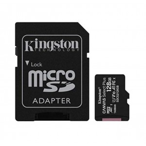 Kingston 128GB MicroSD SDHC SDXC Class10 UHS-I Memory Card 100MB/s Read 10MB/s Write with standard SD adaptor ~SDCS/128GB