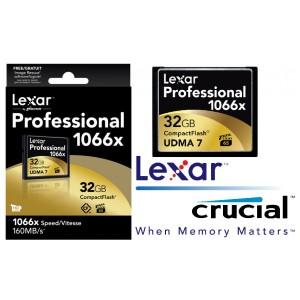 Lexar 1066x 32GB Compact Flash CF Card Upto 160MB/s VPG-65 Standard (LS)