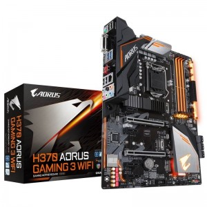 Gigabyte H370 AORUS Gaming 3 WIFI ATX Motherboard Intel H370 LGA 1151-2 4xDDR4 6xPCIe 6xSATA3 7xUSB3.1 6xUSB2.0 WiFi+BT CrossFire GA-H370-AORUS-GAMING-3-WIFI