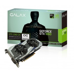 Galax GeForce GTX 1060 OC 3GB GDDR5 Gaming Graphics Card DVI HDMI DP VR GLX-GTX1060OC-3G
