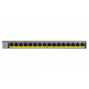NETGEAR GS116PP 16-Port PoE/PoE+ Gigabit Ethernet Unmanaged Switch GS116PP-100AJS