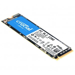 Crucial P2 2TB PCIe NVMe SSD 2400/ 1900 MB/s R/W 600TBW 1.5mil hrs MTTF Acronis True Image Cloning Software 5yrs wty